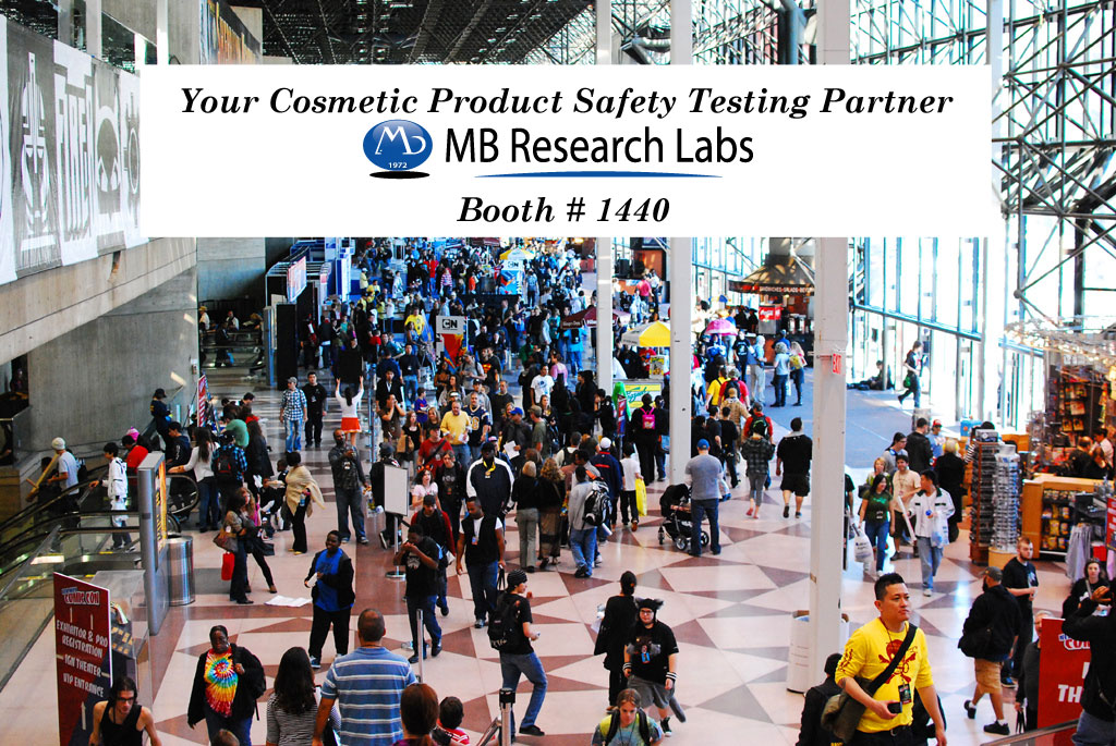 Cosmetic Safety Testing - MB Research Labs Goes to NYSCC 2017